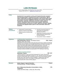 Sample Faculty Resume by Resumes For Teachers Examples Teaching Cv Template Job