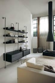 stunning minimalist living room wall unit systems italian design