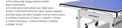 Table Tennis Dimensions 16mm Size Table Tennis Ping Pong Table