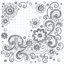 easy flower designs to draw on paper drawing of sketch