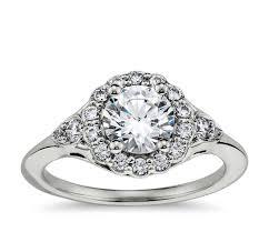 platinum halo engagement rings flora vida halo engagement ring in platinum blue nile