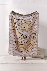 calhoun co bananas woven throw blanket outfitters