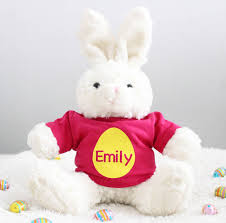 personalized easter bunnies personalised easter bunny soft toys precious plum