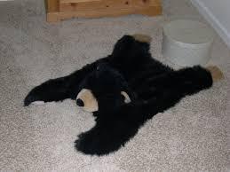 faux bear skin rug with head rug designs
