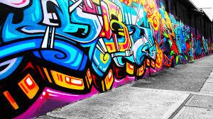 art color graffiti paint psychedelic urban wall rue tag peinture