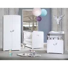 chambre complete bebe chambre bébé trio leaf lit 60x120cm commode armoire de baby