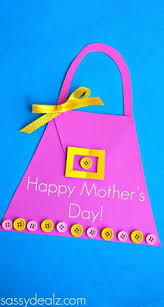 Hand Crafts For Kids To Make - mother u0027s day purse card for kids to make mothersday gift ideas