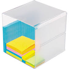 Stackable Desk Organizer Deflecto Stackable Cube Desktop Organizer 1 Compartment