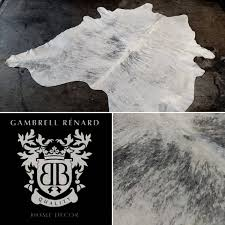 classic cowhide rug white grey brindle u2014 gambrell renard