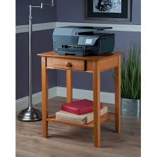 Desk With Printer Storage Amazon Com Winsome Wood Printer Stand With Drawer And Shelf