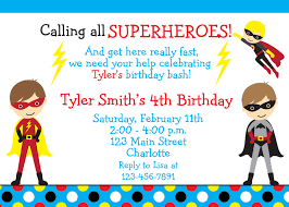 fabulous superhero birthday party invitation wording with