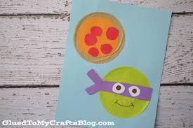 cupcake liner ninja turtles kid craft