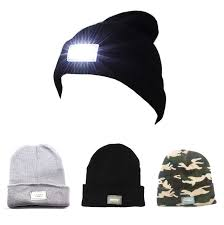 running hat with lights 5 led light hat knitted cap winter warm beanie fishing cing