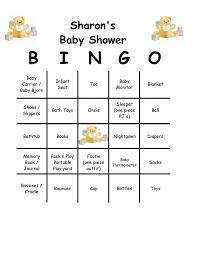 bridal shower bingo card template