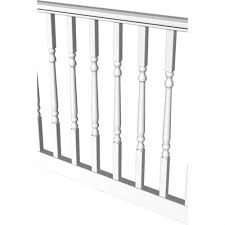 Veranda 8 Ft X 36 In Pro Rail White Handrail Kit 73013128 The
