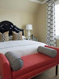 red bedroom bench artenzo