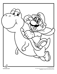 yoshi mario coloring pages mario bros games mario bros