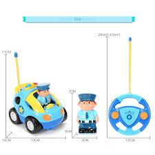cartoon race car funslane cartoon rc police car remote control car with music and
