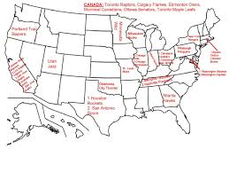 Nhl Map Nba Nhl Playoffs Draw Many Many Fans Rooting For Their Teams