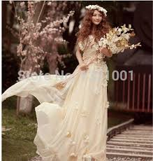 hippie wedding dresses aliexpress buy all fashionable style one shoulder