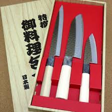 disposal of kitchen knives yaxell seki tobei kitchen knife 3 pair sets sashimi santoku fish japan