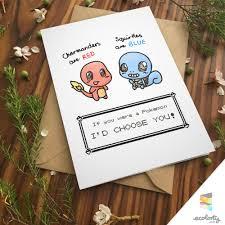 pokemon greeting card charmander squirtle pokemon go pun