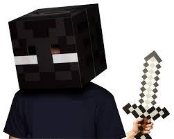 Enderman Halloween Costume Amazon Official Minecraft Enderman Head Foam Sword