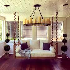 bedroom prepossessing steel hooks chain hang swing bed