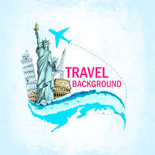 travel around the world creative vector material 01 vector