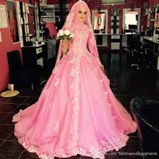 turkish wedding dresses pink muslim wedding dress turkish princess lace bridal dresses