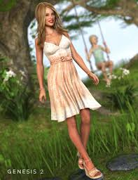 sun dress southern sundress for genesis 2 s 3d models