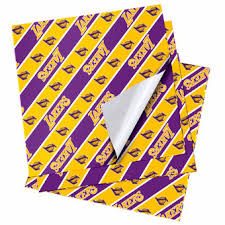 notre dame wrapping paper la lakers wrapping paper lakers gift bags lakers tissue paper