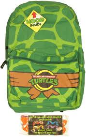 fye tmnt teenage mutant ninja turtles shell print hood backpack