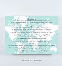 Tripadvisor Map Tiffany U0027 Wedding Map Postcard Invitation With Quote By Paper And