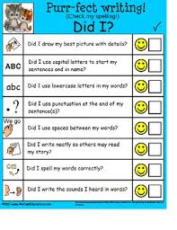 free checklist for young writers autism special education