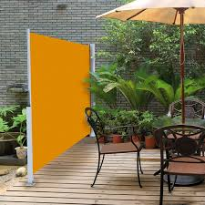 retractable fabric privacy panels it can be used as wind break as