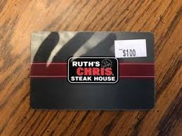 ruth s chris gift cards ruth s chris steak house gift card certificate 100 89 00