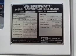 multiquip dca45 portable generator set wpp item 102437