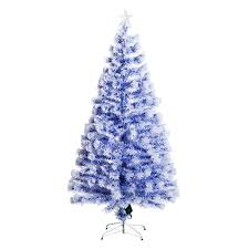 5 artificial fiber optic light up tree white