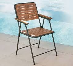 Wood Folding Chairs Tolland Metal U0026 Wood Folding Chair Pottery Barn
