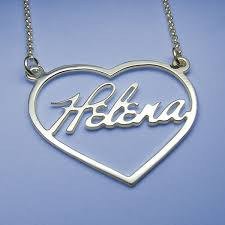 necklace with name silver images Silver necklace with the name in the heart jpg