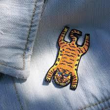 tiger skin rug iron on patch u2013 thefingersmithletterpress