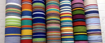Striped Silk Fabric For Curtains Yellow Blue And White Striped Fabric The Stripes Company United