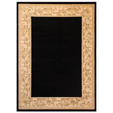 Milliken Area Rugs by Balta Us Elegant Embrace Black 7 Ft 10 In X 11 Ft Area Rug