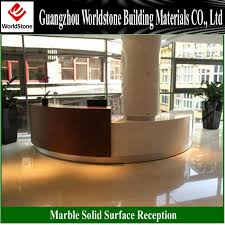 Used Curved Reception Desk White Semi Circular Reception Counter Information Counter