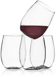 shatterproof stemless wine glasses keep your cousin from breaking
