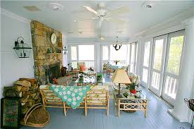 screened porch with stone fireplace hooked on houses