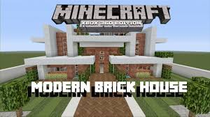 Minecraft House Design Xbox 360 by Minecraft Xbox 360 How To Build A Modern Brick House Youtube