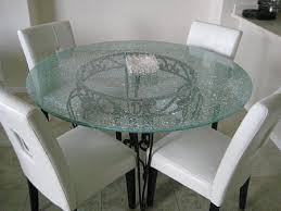 Glass Dining Room Table Tops Clear Crackle Glass Table Tops