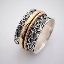 worry ring wide spinner rings for women meditation band worry ring